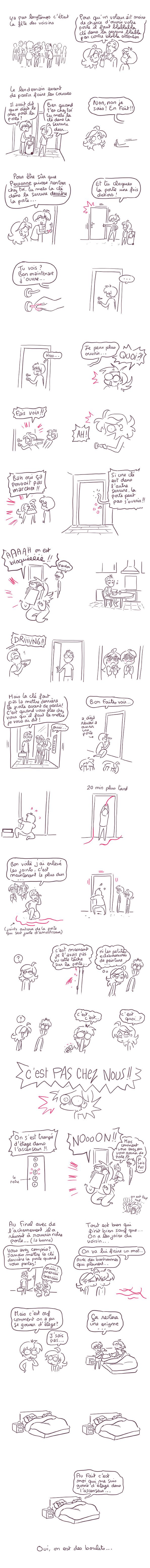 bloqué à la porte