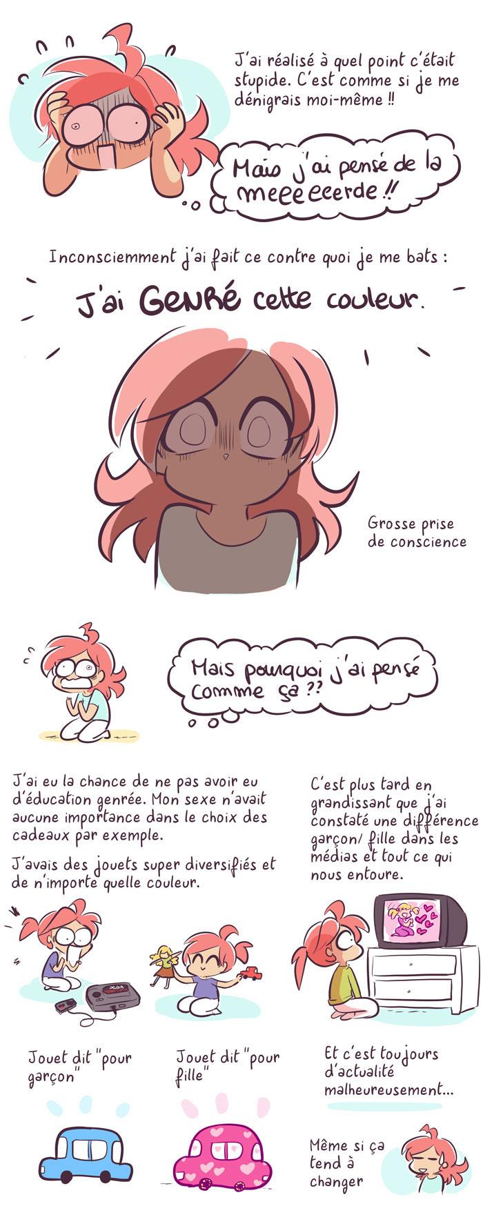 couleur rose genre stéréotype